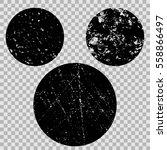 grunge texture circle stamp... | Shutterstock .eps vector #558866497
