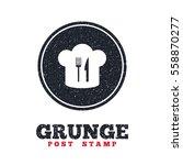 grunge post stamp. circle... | Shutterstock .eps vector #558870277