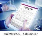 membership application form... | Shutterstock . vector #558882337