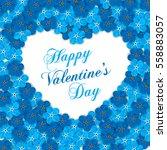 vintage floral heart shape... | Shutterstock .eps vector #558883057