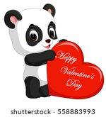 panda cartoon with love | Shutterstock . vector #558883993