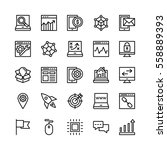 seo and marketing vector icons 6 | Shutterstock .eps vector #558889393