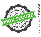 100 secure stamp. security... | Shutterstock .eps vector #558896347