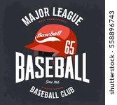 baseball helmet or hat badge ... | Shutterstock .eps vector #558896743