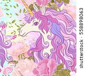 unicorn with multicolored mane  ...