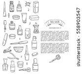 hand drawn doodle nail salon... | Shutterstock .eps vector #558903547