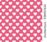 hearts pattern. valentines day... | Shutterstock .eps vector #558907633