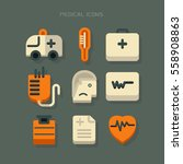 icon medical equipment icon... | Shutterstock .eps vector #558908863