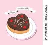vector donuts in happy...   Shutterstock .eps vector #558920023