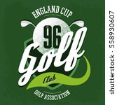 golf ball for english club logo ... | Shutterstock .eps vector #558930607