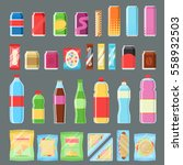 vending machine product set... | Shutterstock .eps vector #558932503