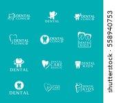 set of logos dental care... | Shutterstock .eps vector #558940753