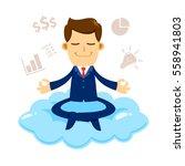 vector stock of a businessman...   Shutterstock .eps vector #558941803