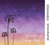 Valentine Card With Dandellion...