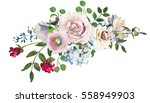 Pastel Floral Drop Bouquet Han...