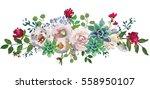 pastel floral bouquet drop... | Shutterstock . vector #558950107