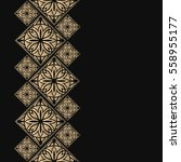 golden frame in oriental style. ... | Shutterstock .eps vector #558955177