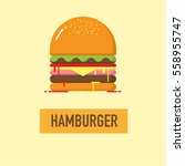 hamburger icon with shadow.... | Shutterstock .eps vector #558955747