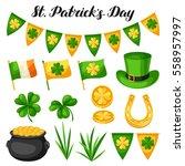 saint patricks day objects.... | Shutterstock .eps vector #558957997