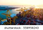 container container ship in... | Shutterstock . vector #558958243