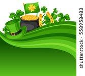 saint patricks day card. flag ...   Shutterstock .eps vector #558958483