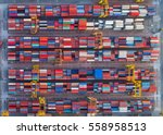 container container ship in... | Shutterstock . vector #558958513