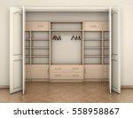 empty room interior and big...   Shutterstock . vector #558958867