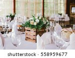 flower table decorations for... | Shutterstock . vector #558959677