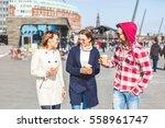 group of friends having fun in...   Shutterstock . vector #558961747
