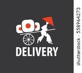 delivery sushi. vector logo. a... | Shutterstock .eps vector #558964273