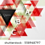 vector modern triangle abstract ... | Shutterstock .eps vector #558968797