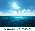 perfect sky and tropical ocean | Shutterstock . vector #558980863