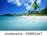 Beach On Mahe Island  Seychelles