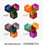 set of abstract option... | Shutterstock .eps vector #558988753