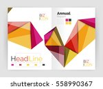 3d low poly shapes design for...   Shutterstock .eps vector #558990367