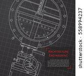 vector technical blueprint of... | Shutterstock .eps vector #558994237