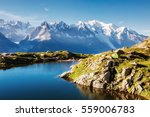 views of the mont blanc glacier ... | Shutterstock . vector #559006783