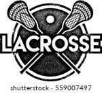 vintage lacrosse sport stamp | Shutterstock .eps vector #559007497