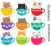 Kitty In Cups Collection