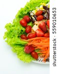 mix salad fruit and vegetable... | Shutterstock . vector #559010653
