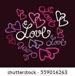 valentine's day illustration... | Shutterstock .eps vector #559016263