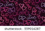 valentine's day pattern with... | Shutterstock .eps vector #559016287