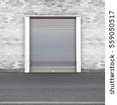 roller shutters the factory... | Shutterstock . vector #559050517