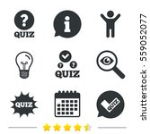 quiz icons. speech bubble with... | Shutterstock . vector #559052077