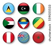 set of world flags round badges ... | Shutterstock .eps vector #559055533