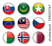 set of world flags round badges ...   Shutterstock .eps vector #559055767