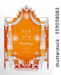 indian wedding invitation card... | Shutterstock .eps vector #559058083