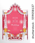 indian wedding invitation card... | Shutterstock .eps vector #559058137