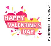 design banner for valentine's... | Shutterstock .eps vector #559058827
