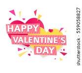 design banner for valentine's... | Shutterstock .eps vector #559058827